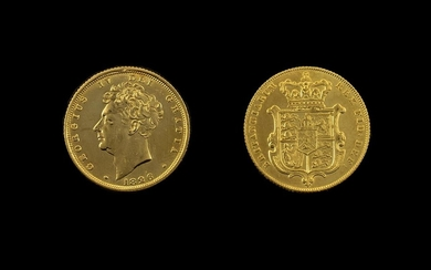 George IV Shield back 22ct Gold Sovereign. Dated 1826, Lond...