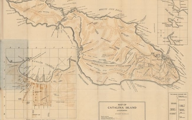 """Map of Catalina Island California"""
