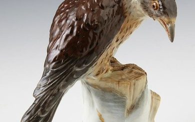 Meissen Porcelain Sparrow Hawk, 20th c., impressed mark