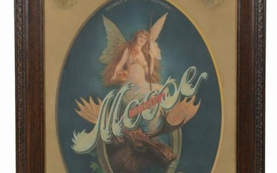 MOOSE BRAND BEER ADVERTISMENT.