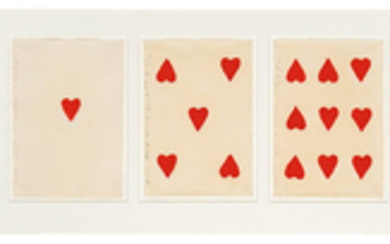 Donald Sultan - Donald Sultan: Untitled (Cards) (Hearts and Diamonds)