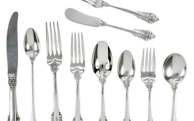 Grand Baroque Sterling Flatware, 151 Pieces
