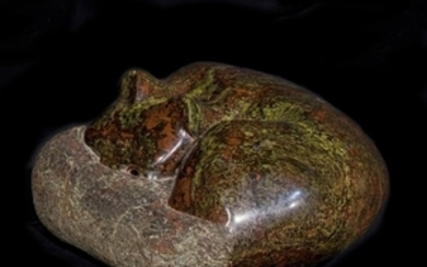 A Portsoy Marble model of a resting cat