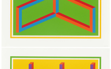 SOL LEWITT (1928-2007), Plates I & II, from: Isometric Figures