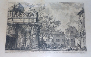 Piranesi, Giovanni: TEMPLE OF VESPASIANO (GIOVE TONANTE), Year 1756