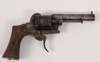 French Lefaucheux 7 mm caliber 6 shot double action pinfire revolver
