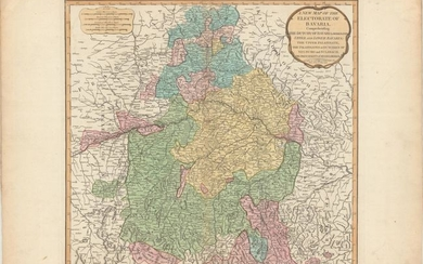 """A New Map of the Electorate of Bavaria, Comprehending the Dutchy of Bavaria Divided into Upper and Lower Bavaria; the Upper Palatinate, the Palatinates or Dutcihes of Neuburg and Sulzbach..."", Laurie & Whittle"