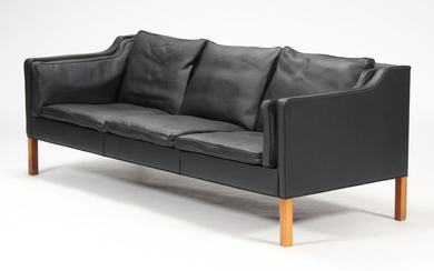 Børge Mogensen 1914-1972. Three-seater sofa, Model 2213, reupholstered