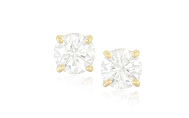 A PAIR OF DIAMOND EARSTUDS...
