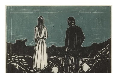 EDVARD MUNCH | TWO HUMAN BEINGS. THE LONELY ONES (SCHIEFLER 133; WOLL 157)