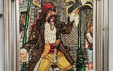Mardi Gras Pirate Oil Painting by Oscar Quesada (New