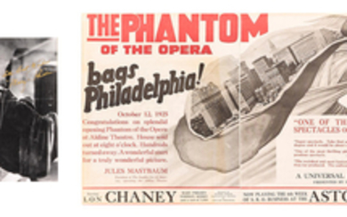 A newspaper ad for The Phantom of the Opera and a Mary Philbin signed photo