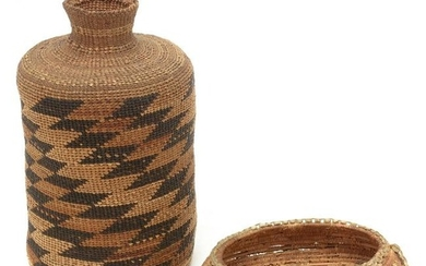 Two Native American Basketry Items.
