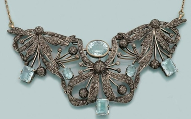 Prachtvolles Belle Epoque Aquamarin-Collier