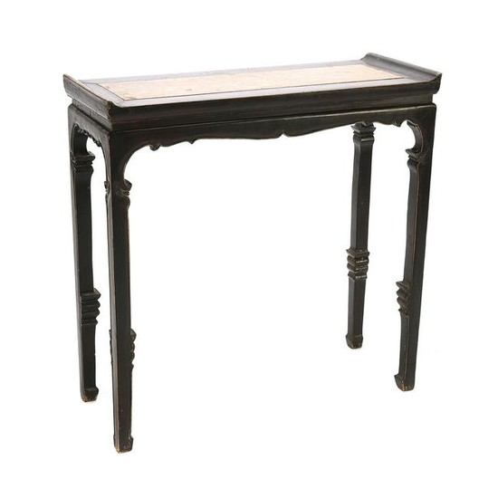 Lacquered Wood Recessed Painting Table