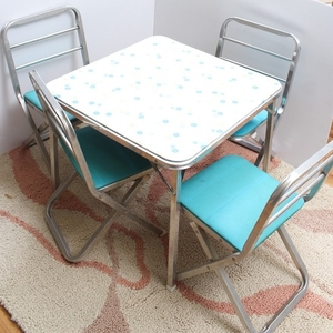 Lot Art Retro Children S Table And Chairs With Vintage Toys