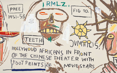 Hollywood Africans in front of the Chinese Theater with Footprints of Movie Stars