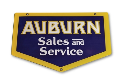 Auburn Sales and Service Reproduction Sign