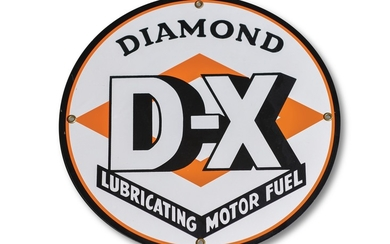 Diamond D-X Lubricating Motor Fuel Reproduction Sign