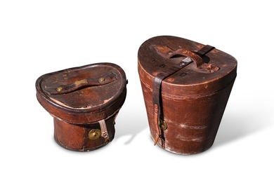 English Leather Hat Boxes