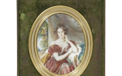 English School 19th century Portrait miniature after the painting...