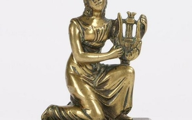 Early 19th century bronze depicting a classical muse