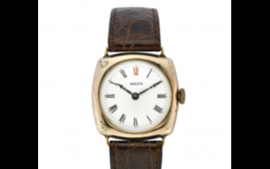 ROLEX Gent's 9K gold wristwatch 1930s Dial, movement and...