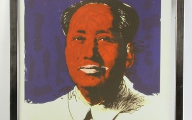 Andy Warhol Lithograph of Mao