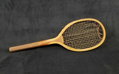 Early 1900s American Ashland Quality Line Wooden Tennis
