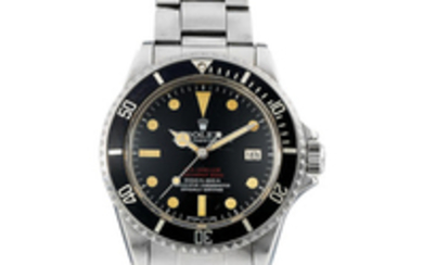 Rolex. A Rare stainless steel centre seconds bracelet twatch with helium gas escape valve and date