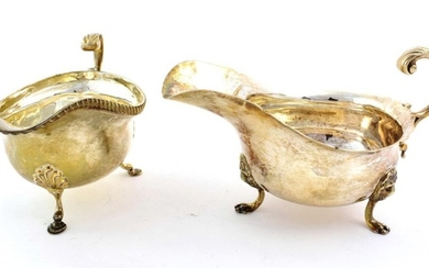 An Edward VII Silver Sauceboat and A George VI Silver...