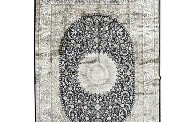 Large Persian Silk Carpet.