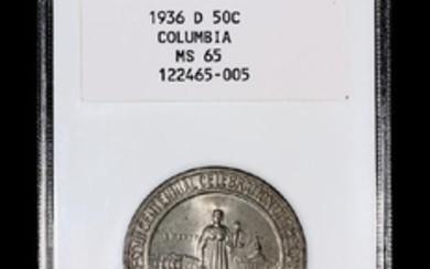 A United States 1936-D Columbia Commemorative 50c Coin