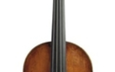 Violin - C. 1780, possibly Venetian, unlabeled, length of two-piece back 357 mm.