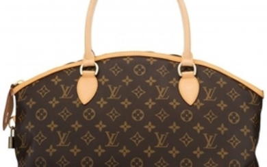 16091: Louis Vuitton Brown Monogram Coated Canvas Tote