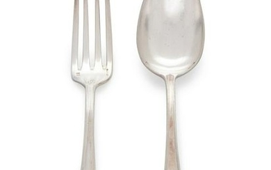 A Group of French Silver Plate Flatware Christofle,