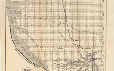 """""""[Lot of 4] Map of a Part of Kern County... [and] Map of Part of Kern County Showing Various Irrigating Ditches and Adjacent Lands [and] Map of McClung Ranch [and] Map of Belle View Ranch"""", U.S. Government"""