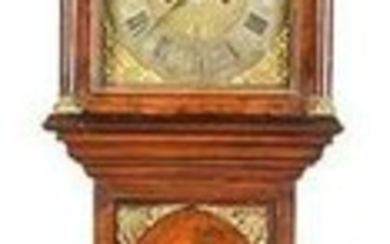 Rare William & Mary Burlwood Veneered Case Clock
