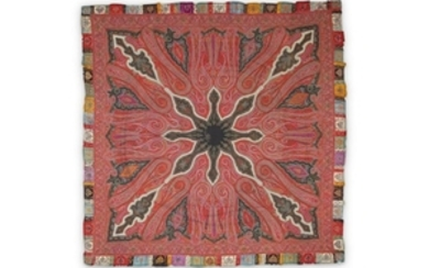 A SQUARE KASHMIRI SHAWL North India, late 19th century