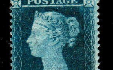 Great Britain 1854 - 2p blue perforated 14 W4 - Stanley Gibbons N. 34