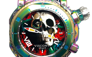 """Visconti - Sport Dive 3000 Skull & Roses Limited Edition Ostrich Strap - KW53-01 """"NO RESERVE PRICE"""" - Men - BRAND NEW"""