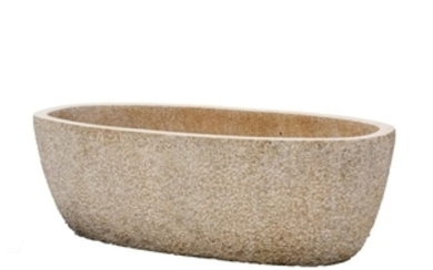 A substantial granite trough or planter