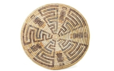 Dine (Navajo) Basket Tray, Attributed to Sally Black