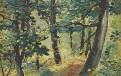 """HARRY SCHEUCH (american, 1906-1978) """"FRICK WOODS"""" Signed and dated..."""