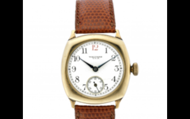 WALTMAN Gent's 9K gold wristwatch 1930s Dial, movement and...