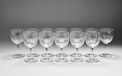Baccarat Crystal Montaigne Optic Goblets, 12