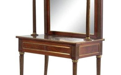 A Directoire Style Gilt Metal Mounted Mahogany Dressing