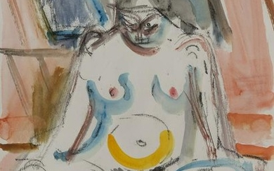 Michael Loew - Seated White Nude