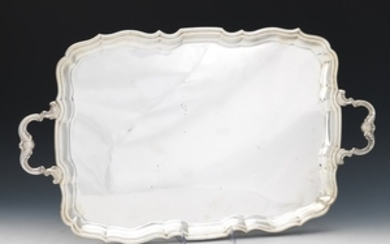 Henry Birks Sterling Silver Double Handle Tray