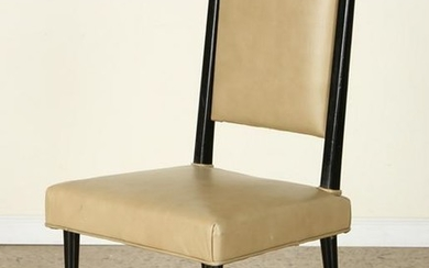 UPHOLSTERED LEATHER SIDE CHAIR MANNER GIO PONTI
